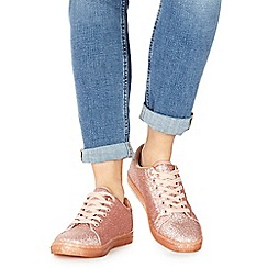 Faith - Pink glitter 'Karla' trainers