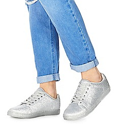 Faith - Silver glitter 'Karla' trainers