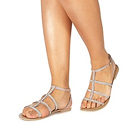 Faith - Natural leather 'Jord' t-bar sandals