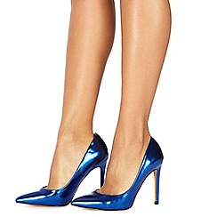 Faith - Blue 'Chloe' high heel wide fit pointed shoes