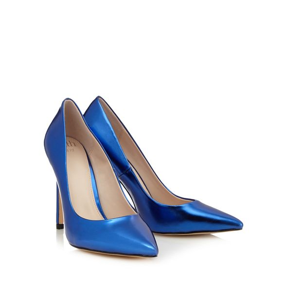 Blue high Faith pointed wide heel fit 'Chloe' shoes BvqxwCHqd