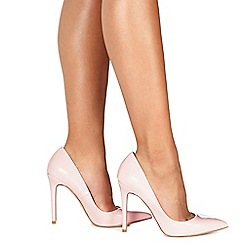Faith - Light pink patent 'Chloe' high stiletto heel pointed shoes