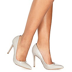 Faith - Light grey patent 'Chloe' high stiletto heel pointed shoes