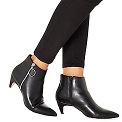 Faith - Black 'Bolly' mid block heel ankle boots