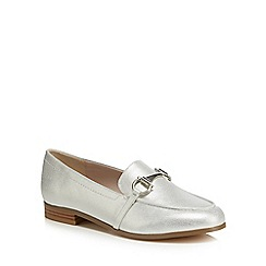 Faith - Silver 'Agnes' metallic loafers