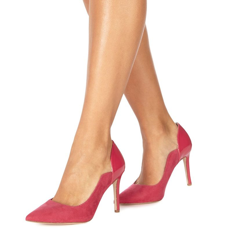 Faith - Pink Cassandra High Heel Wide Fit Pointed Shoes