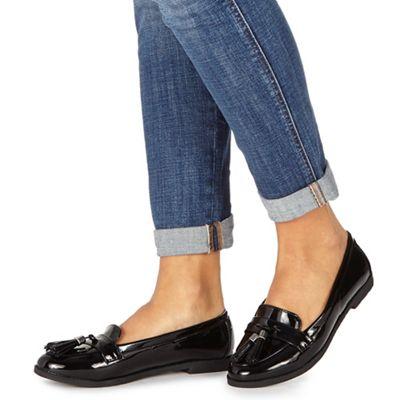 Faith - Black patent 'Attie' loafers
