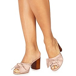 Faith - Light pink 'Daiquiri' high block heel shoes