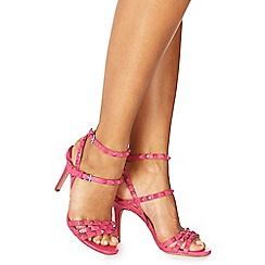 Faith - Pink 'Lever' high stiletto heel ankle strap sandals