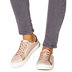 Faith - Pink 'Kem' lace up trainers