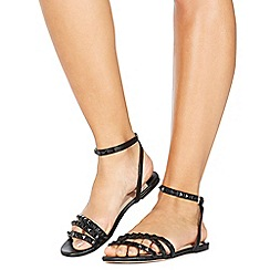 Faith - Black 'Jamila' ankle strap sandals