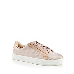 Faith - Peach 'Kem' lace up trainers