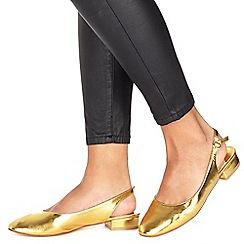 Faith - Gold 'Amelia' slingbacks
