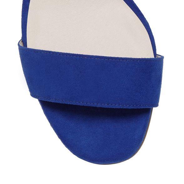block suedette strap Blue sandals Faith mid ankle 'Daenerys' heel 5IxgZ