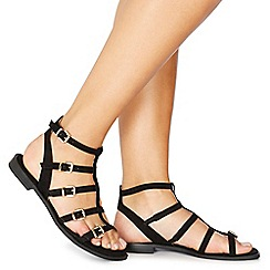 Faith - Black suedette 'Julian' ankle strap sandals