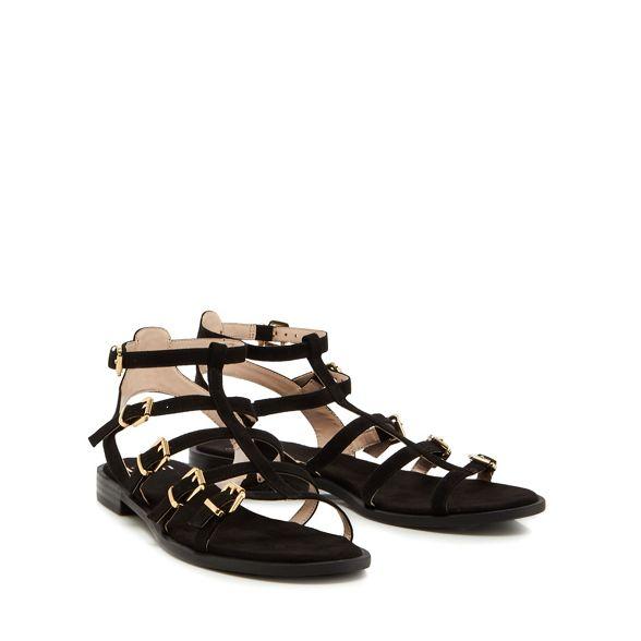 'Julian' sandals ankle Faith Black strap suedette 8YO8wAqn4