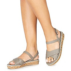 Faith - Grey 'Jupiter' ankle strap sandals