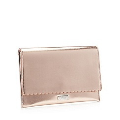 Faith - Rose gold metallic 'Poppy' clutch bag