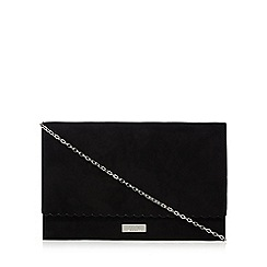 Faith - Black suedette 'Poppy' clutch bag