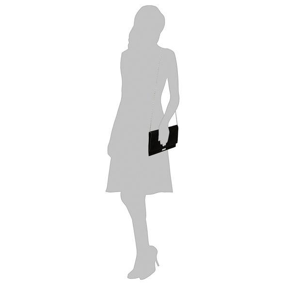 Black bag clutch 'Poppy' suedette Faith FxAqUA