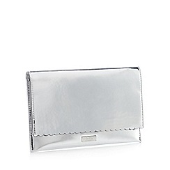 Faith - Silver Metallic 'Poppy' Clutch Bag