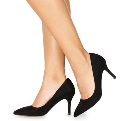 de45222bbdc Faith - Black suedette  Chariot  high stiletto heel wide fit pointed shoes