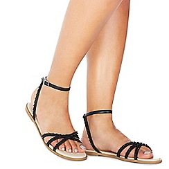 Faith - Black 'Jarr' ankle strap sandals