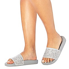 Faith - Grey diamante 'Jider' sliders