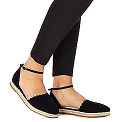 Faith - Black suedette 'Abe' espadrilles