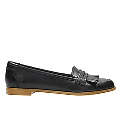 Clarks - Black leather 'Andora Crush' moccasins