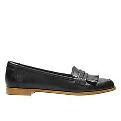 Clarks - Black leather 'Andora Crush' moccasins
