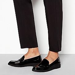 6183bda78c0 Good for the Sole - Black patent flatform heel loafers