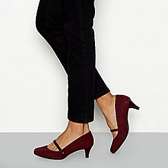 Good for the Sole - Red suede 'Lolly' kitten heel court shoe