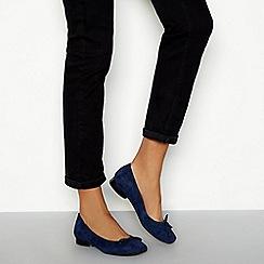 78d10d19d Good for the Sole - Navy suede  Lianni  wide fit block court shoes