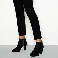 Good for the Sole - Black suedette sparkly trim heeled ankle boots