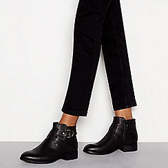 Good for the Sole - Black 'Goose' block heel wide fit ankle boots