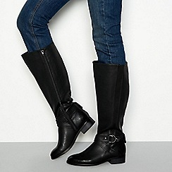 Good for the Sole - Black block heel knee high riding boots