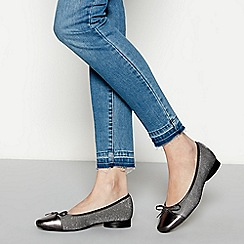 Good for the Sole - Metallic glitter wide fit ballet pumps
