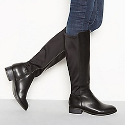 Good for the Sole - Black 'Ginger' flat heel knee high boots