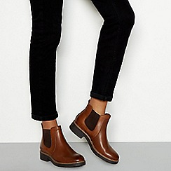 Good for the Sole - Tan leather block heel Chelsea boots