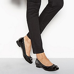 Good for the Sole - Black patent 'Gaba' wide fit ballet pumps