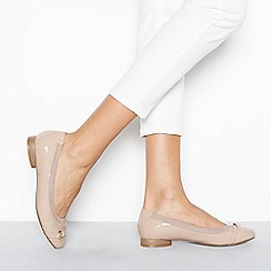 Good for the Sole - Nude patent 'Gaba' wide fit ballet pumps