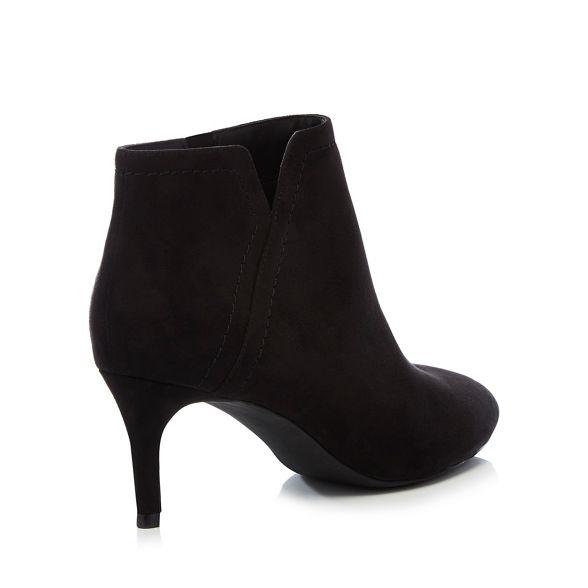 Principles heel Black stiletto boots mid 'carolina' suedette nAqSP