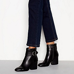 Principles - Black 'Cardy' block heel ankle boots