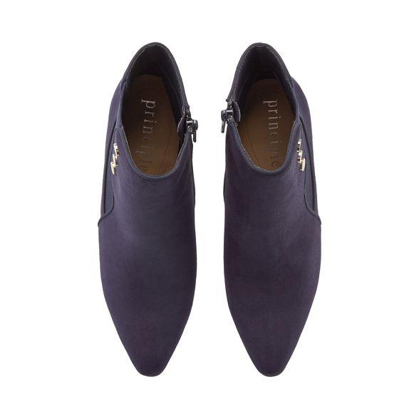 heeled Principles 'Captain' ankle Black boots suedette nSxS74wW