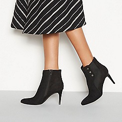 Principles - Black suedette 'Captain' heeled ankle boots
