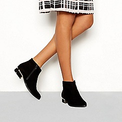 Principles - Black suedette 'Celia' block heel ankle boot