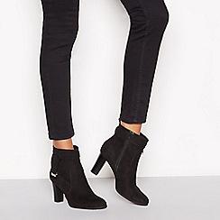 Principles - Black suedette 'Cece' heeled ankle boots