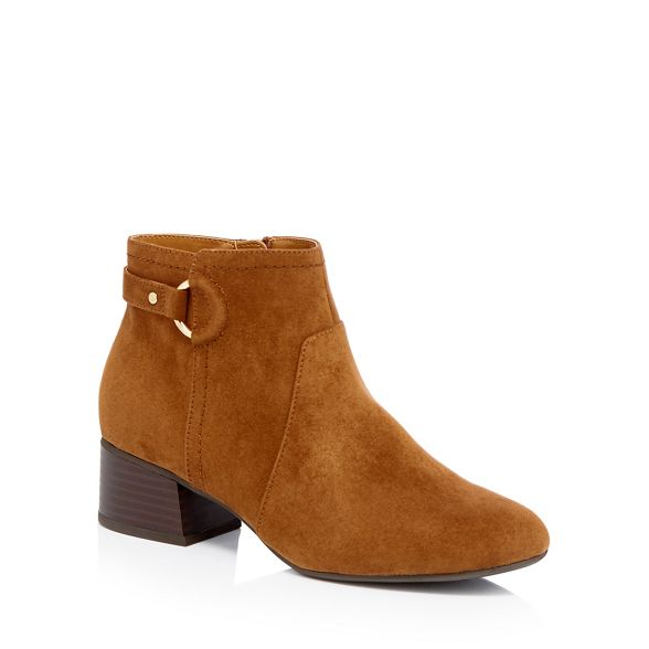 Principles block fit Brown boots wide heel suedette 'Cimba' ankle r1rZqB