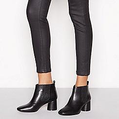 Principles - Black 'Cloudy' block heel Chelsea boots